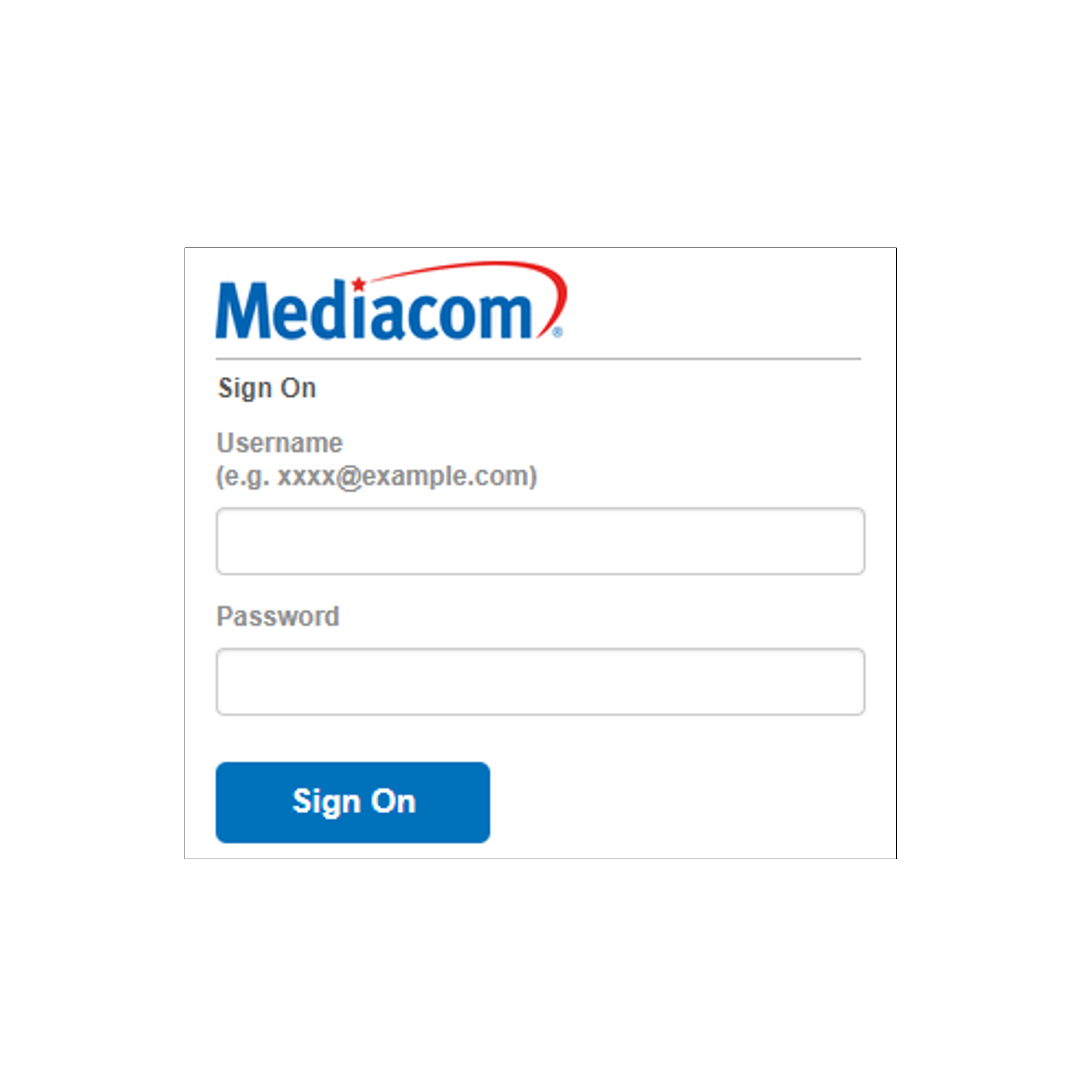 Changing Mediacom ID / Mediacom Email Password