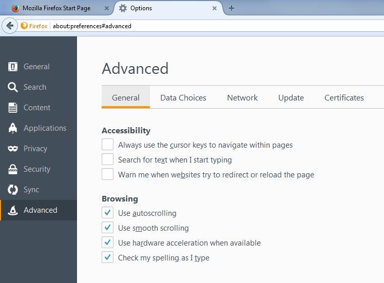 Firefox - Proxy Settings