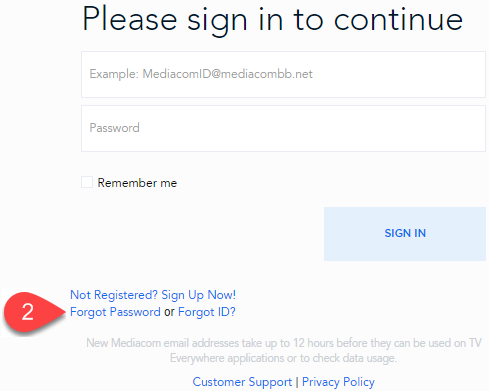 Forgot Password for My Account